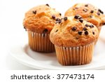 Chocolate Chip Muffins Isolate...
