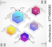 infographic design vector... | Shutterstock .eps vector #377480080