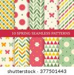 ten retro different spring... | Shutterstock .eps vector #377501443