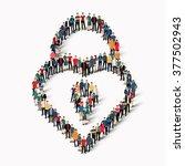 people  shape  lock love   Shutterstock .eps vector #377502943