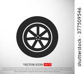 wheel vector icon   Shutterstock .eps vector #377509546