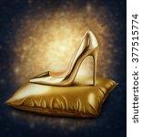 Illustration Of Golden Stilett...