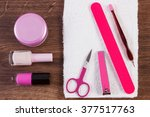 cosmetics and accessories for... | Shutterstock . vector #377517763