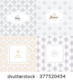 vector mono line graphic design ... | Shutterstock .eps vector #377520454