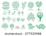 collection of green tree  logos ...