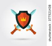 shield and swords | Shutterstock .eps vector #377521438