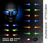 Set Of Super Hero Glowing Eyes...
