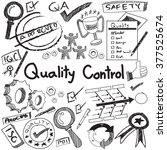 quality control in... | Shutterstock .eps vector #377525674