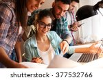 group of young business people... | Shutterstock . vector #377532766