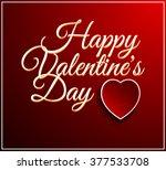 valentines day vintage... | Shutterstock . vector #377533708