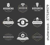 vintage logos design templates... | Shutterstock .eps vector #377539579