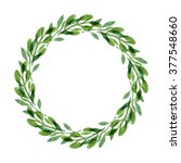 rustic wreath. watercolor... | Shutterstock . vector #377548660