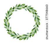 rustic wreath. watercolor... | Shutterstock . vector #377548660