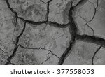 dry and cracked earth... | Shutterstock . vector #377558053