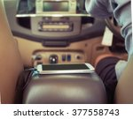 charger plug phone on car | Shutterstock . vector #377558743
