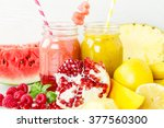 fresh organic red and yellow... | Shutterstock . vector #377560300