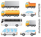 set of various vehicles... | Shutterstock . vector #377564158