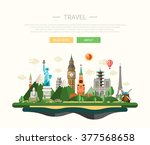 vector illustration of flat... | Shutterstock .eps vector #377568658