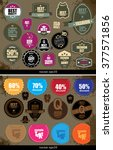 collection of premium quality... | Shutterstock .eps vector #377571856