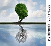 hidden depression concept and... | Shutterstock . vector #377576293