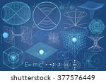 elements  symbols and schemes... | Shutterstock .eps vector #377576449