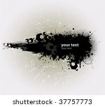 grunge banner with an inky... | Shutterstock .eps vector #37757773