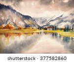 Autumn Landscape With Mountain...