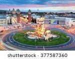 barcelona   espana square  spain | Shutterstock . vector #377587360