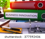 business innovation   green... | Shutterstock . vector #377592436