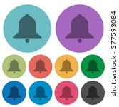 color bell flat icon set on...