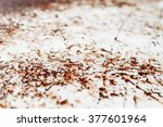 old rusty white painted metal... | Shutterstock . vector #377601964
