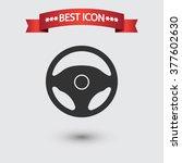 steering wheel icon vector | Shutterstock .eps vector #377602630