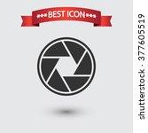 camera objective icon vector