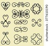 vector decorative elements | Shutterstock .eps vector #377610190