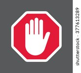 hand blocking sign stop .vector ... | Shutterstock .eps vector #377613289