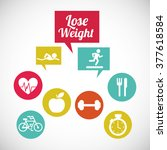 lose weight design  | Shutterstock .eps vector #377618584