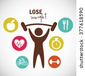lose weight design  | Shutterstock .eps vector #377618590