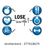 lose weight design  | Shutterstock .eps vector #377618674