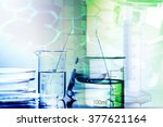 laboratory glass. macro image.... | Shutterstock . vector #377621164