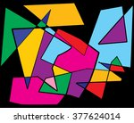a colorful abstract cubism...