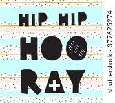 hip hip hooray  hand drawn... | Shutterstock .eps vector #377625274