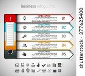 vector illustraton of business... | Shutterstock .eps vector #377625400