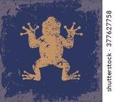 Frog Design On Old Paper...
