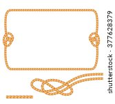 set of rope design elements....   Shutterstock .eps vector #377628379
