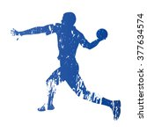 handball player  abstract... | Shutterstock .eps vector #377634574