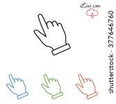 line icon  pointer | Shutterstock .eps vector #377646760