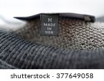 Macro Of Clothing Label Whit...