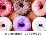 Donut. Sweet Icing Sugar Food....