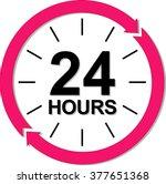 24 Hours Logo. Vector...