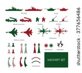 military set for tactical map... | Shutterstock .eps vector #377656486